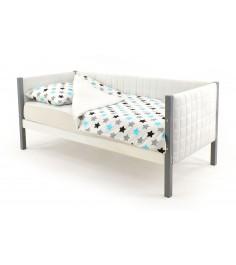 Детская кровать-тахта мягкая Бельмарко Skogen графит-белый