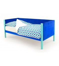 Детская кровать-тахта мягкая Бельмарко Svogen мятно-синий