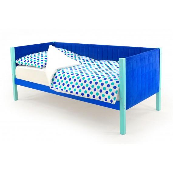 Детская кровать-тахта мягкая Бельмарко Skogen мятно-синий