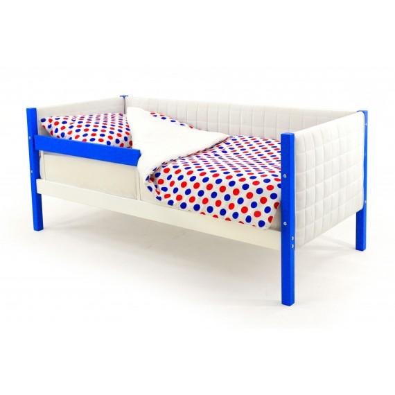 Детская кровать-тахта мягкая Бельмарко Svogen сине-белый