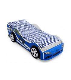 Кровать-машина Бельмарко Супра синяя