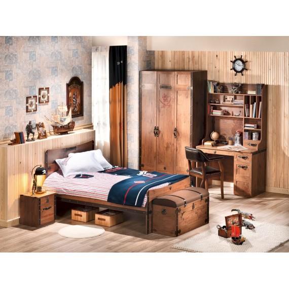 Детская кровать Cilek Black Pirate 120 на 200 см