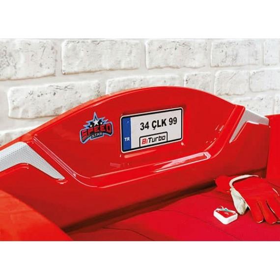 Кровать машина Cilek Biturbo красная
