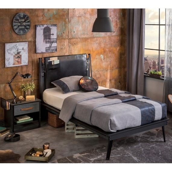 Кровать Cilek Dark Metal Line 200 на 120 см