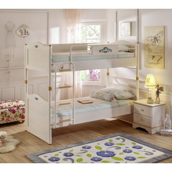 Двухъярусная кровать Cilek Flora 200 на 90 см
