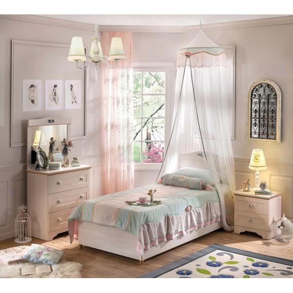 Кровать с подъемным механизмом Cilek Flora 90 на 190 см