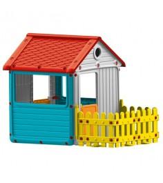 Игровой домик с ограждением 3013 серый