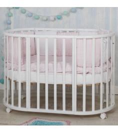 Круглая кроватка Incanto Mimi deluxe 7 в 1 белый