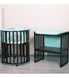 Круглая кроватка Incanto Nobelev 8 в 1 (трансформер) цвет шоколад