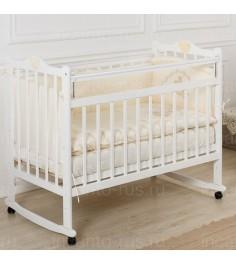 Кроватка Incanto Pali колесо качалка белый