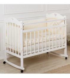 Кровать Incanto Sofi колесо качалка белый