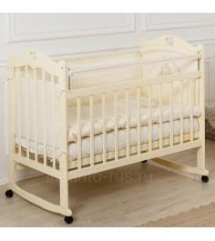 Кровать Incanto Sofi колесо качалка слоновая кость
