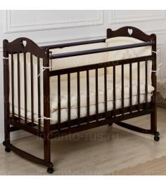 Кровать Incanto Sofi колесо качалка темный
