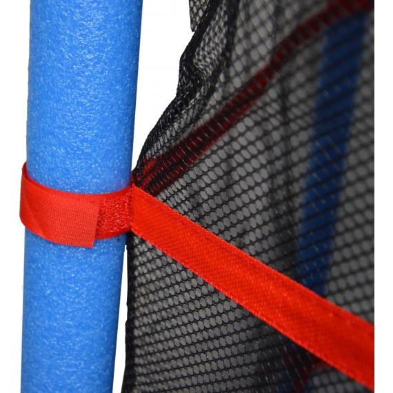 Детский батут с сеткой 140 см синий