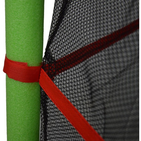 Детский батут с сеткой 140 см зеленый