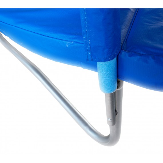 Батут с лестницей и внутренней сеткой 360 см синий