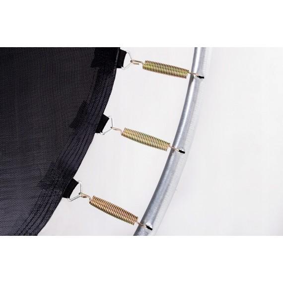 Батут с лестницей и внешней сеткой 244 см черный