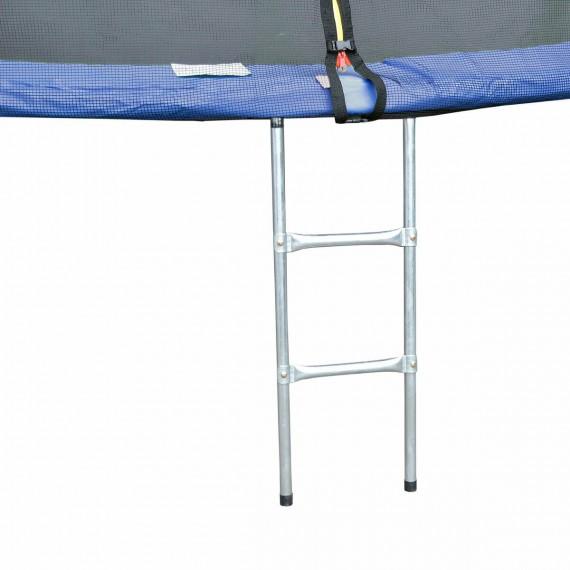 Батут с лестницей и внешней сеткой 306 см синий