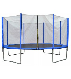 Батут с лестницей и внешней сеткой 360 см синий