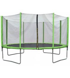Батут с лестницей и внешней сеткой 360 см зеленый