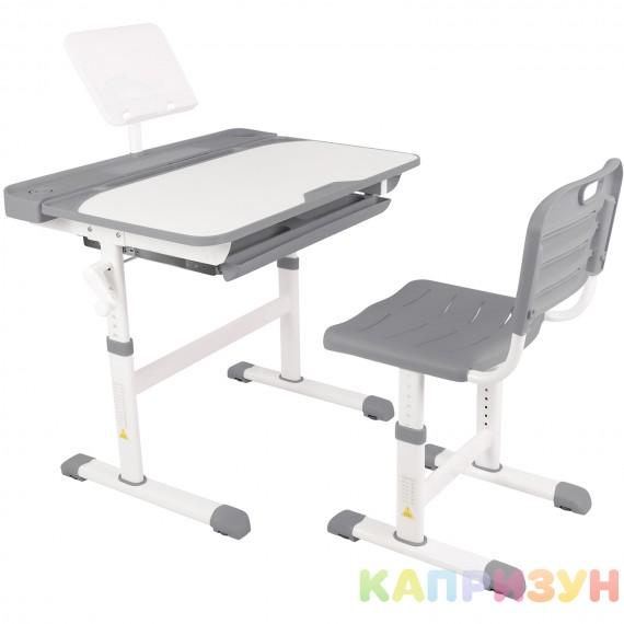 Парта трансформер со стулом Капризун R8-grey