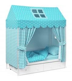 Детское постельное белье Капризун домик Мятный