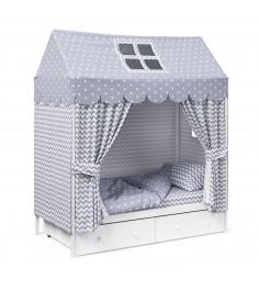 Детское постельное белье Капризун домик Серый