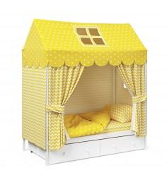Детское постельное белье Капризун домик Желтый