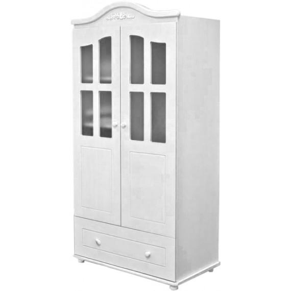 Детский двухстворчатый шкаф Можга С536 Э белый