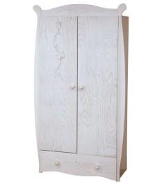 Детский двухстворчатый шкаф Можга С538 античный белый