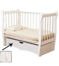 Кровать детская Можга Красная Звезда Сибирочка C777 античный белый