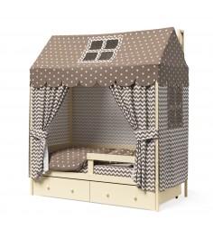 Кровать домик Капризун Р424 Э слоновая кость эмаль