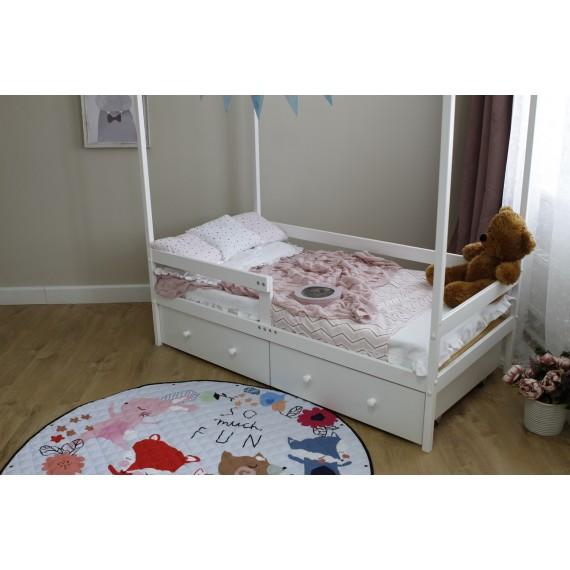 Кровать домик Капризун Р424 белый