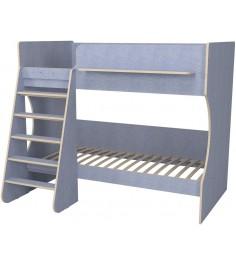 Кровать двухъярусная Капризун 3 лен голубой