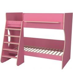 Кровать двухъярусная Капризун 3 розовый