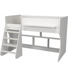 Кровать чердак Р436 Капризун 2 белый