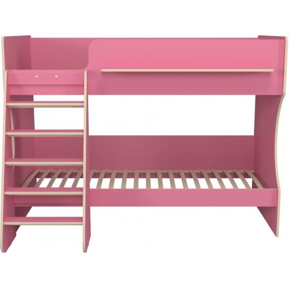 Кровать двухъярусная Капризун 8 розовый
