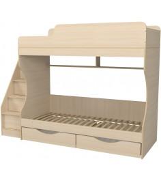 Кровать двухъярусная с ящиками Капризун 6 дуб млечный