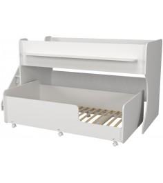 Двухъярусная кровать Р444-2 Капризун 7 с лестницей с ящиками белый