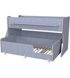 Двухъярусная кровать Р444 Капризун 7 лен голубой