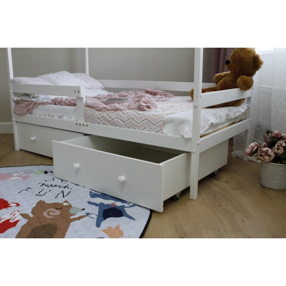 Кровать домик Можга Красная Звезда Р424 белый