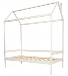 Кровать домик Можга Красная Звезда Р424 Э белый эмаль