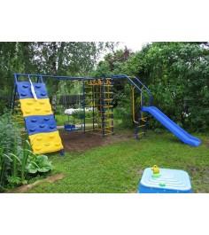Детский игровой комплекс Капризун Дачник № 7 с горкой и скалодромом
