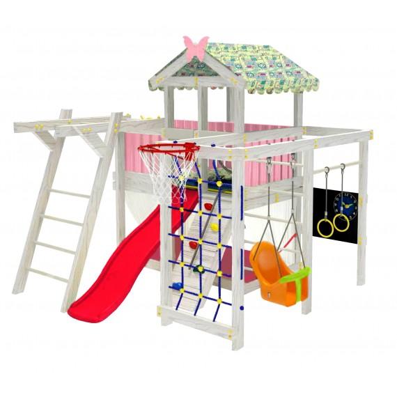 Домашний игровой комплекс чердак ДК1Р Розовый