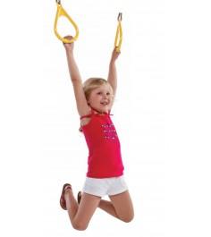 Пластиковые гимнастические кольца к игровым комплексам желтые...