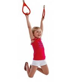 Пластиковые гимнастические кольца к игровым комплексам красные...