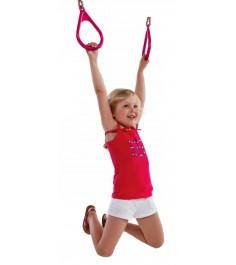 Пластиковые гимнастические кольца к игровым комплексам розовые...