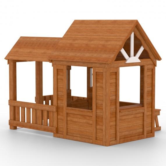 Детский домик Солнечный Р910 с верандой