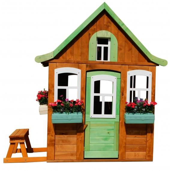 Домик Цветочный c кухней и цветочницами P920-2