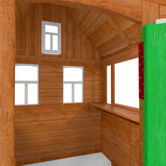 Детский домик Цветочный зеленый P920-3